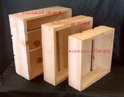 3 Piece Nesting Wooden Boxes Or Flats