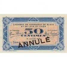 chambre du commerce blois billet des chambres de commerce blois 1 franc