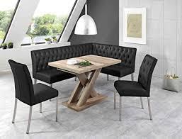 eckbankgruppe milan wildeiche schwarz eckbank 2x stuhl