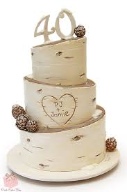 Rustic Birch Wedding Cake Cakes