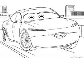 Natalie Certain From Cars 3 Disney Coloring Pages