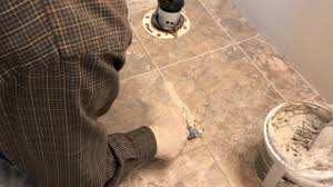 Installing Groutable Peel And Stick Tile by Installing Luxury Vinyl Tile Step 5 Grout The Tiles Youtube