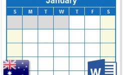All Format Video Player For Android Free Download 2018 Calendar With Australia Holidays – Ms Word Download throughout Australia Address Format 2018