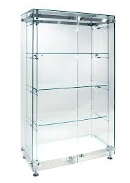 contemporary display glass illuminated commercial