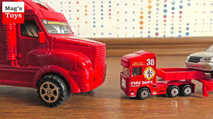 100 Toy Moving Truck Car Transporters Video For Kids Cars From Various