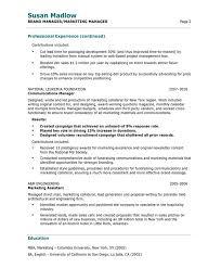 Marketing Manager Resume