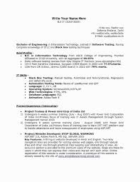 One Year Experience Resume Format For Net Developer Luxury Experienced