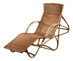 100 Woven Cane Rocking Chairs Exceptional Bamboo And Adjustable Chaise 1950s DECASO
