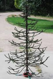 Take An Old Artificial Tree Trim Off The Primitive Christmas