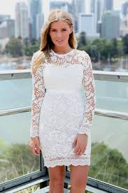 white lace dresses with sleeves naf dresses
