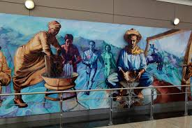 Denver International Airport Murals Meaning by Denver International Airport Mile High And Rising Marcus Akinlana