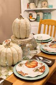 Staub Pumpkin Cocotte by Shaw Avenue U0027s Fall Decor Part 1 Dining Table Pumpkin Plates