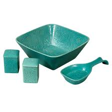 Savannah Turquoise Kitchen Canister Set by Hiend Accents Kitchen