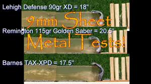9mm Sheet Metal Tests Is There A Hollow Point That Can Pass ... 45 Acp P Ammo Barnes Tacxpd 185 Grain Schp 20 Rounds Test Tacxp Gunsamerica Digest Tacxpd Acpp Gr Tacxp Hollow Point Lead Free 40 Sw 140 Grain What Bullets Do You Use For Personal Defense Archive The Black Hills Ammunition Premium For Sale Gr 185gr Penetration 45acp Youtube 9mm