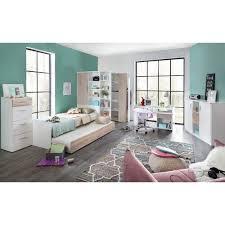 3 tlg schlafzimmer set amelia farbe weiß eiche