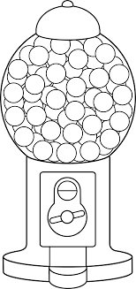Print out Gum ball machine coloring pages Printable Coloring Pages For Kids