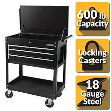 OLYMPIA 30 In. 4-Drawer Roller Cabinet Tool Chest In Black-84-956 ...