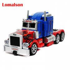 100 Optimus Prime Truck Model 35cm Robot Toy Figures Movie Car Men Big Plastic Alloy