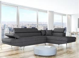 canapé en tissu gris canapé d angle droit en tissu gris foncé