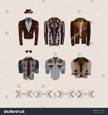 Mens Modern And Retro Clothes Fashion Illustration Eps 10