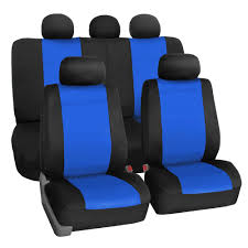 FH Group Neoprene Water Resistent Seat Covers Blue (Full Set) (Blue ...