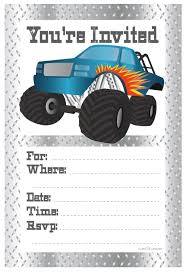 Monster Truck Birthday Party Invitations - Fill In Style (20 Co ... Monster Contruck Invitation Invite Pics Of Truck Fresh Birthday Invitations Personalized Invitation Boy By Uprint Etsy Party Ideas At In A Box 50 Off Sale 2nd Svg And Printable Clipart To Make Nice 94 In Design With Frozen Elsa Anna Trucks Food Jam Supplies Monster Truck Birthday Truck Birthday Party Invites Tonys 6th Bday