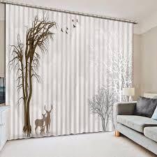 moderne schwarze und weiße vorhänge schöne landschaft 3d blackout vorhänge für wohnzimmer schlafzimmer polyester baumwolle 3d vorhänge