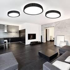 handro led deckenleuchte ø 100cm schwarz wohnzimmer modern