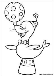 Coloring Page Circus Animals 2