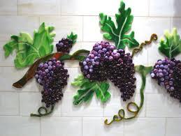 grapes vines backsplash