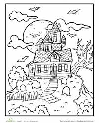 Spooky Mansion Coloring Page