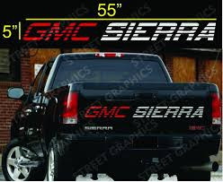 100 Rear Truck Window Decals GMC SIERRA TAILGATE VINYL DECAL STICKER RED SILVER COLORS EBay