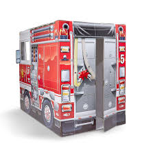 Amazon.com: Melissa & Doug 5511 Fire Truck Indoor Corrugate ...