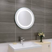 Designer 590mm Round Illuminated LED Bathroom Mirror + Demister Pad ... 25 Modern Bathroom Mirror Designs Unusual Ideas Vintage Architecture Cherry Framed Bathroom Mirrors Suitable Add Cream 38 To Reflect Your Style Freshome Gallery Led Home How To Sincere Glass Winsome Images Frames Pakistani Designer 590mm Round Illuminated Led Demister Pad Scenic Tilting Bq Vanity Light Undefined Lighted Design Beblicanto Designs