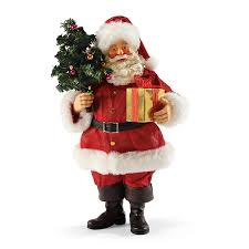 Leanin Tree Christmas Cards Canada by Possible Dreams Greeting From Santa Holding Christmas Tree