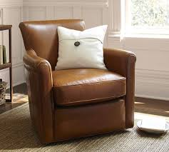 Irving Leather Swivel Armchair
