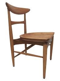 100 Birch Dining Chairs MidCentury Modern Danish Chair Chairish