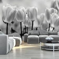 details zu fototapete weiß tulpen blumen wohnzimmer tapete wandtapete 73