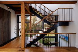 Apartments: Farmhouse Staircase Design With Black Iron Banister ... Staircase Banister Designs 28 Images Fishing Our Stair Best 25 Modern Railing Ideas On Pinterest Stair Elegant Glass Railing Latest Door Design Banister Wrought Iron Spindles Stylish Home Stairs Design Ideas Wooden Floor Tikspor Staircases Staircase Banisters Uk The Wonderful Prefinished Handrail Decorations Insight Wrought Iron Home Larizza In 47 Decoholic Outdoor White All And Decor 30 Beautiful Stairway Decorating
