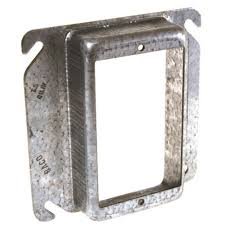 Hubbell Floor Box Cover Plates by Raco 4 In Square Cover 1 Device 3 4 In Raised 24 Pack 8773