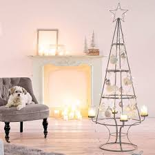pureday decoration tree candle holder metal silver height 150 cm