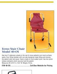 Ferno Stair Chair Model 42 by V E Ralph Catalog 2014 2015 Emergency Medical Products Page 48