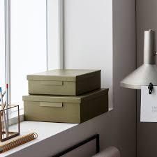 monograph aufbewahrungsbox file set armeegrün flach