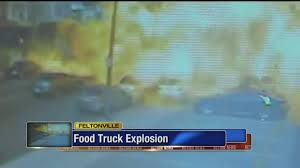 Propane Tank Explodes Inside Philadelphia Food Truck | Abc7.com Florida Couple Hauling Propane Grill In Their Kia Light Cigarette Johnson City Press Tank Causes Explosion That Levels Explodes Moving Truck Wcbd 11 Injured After Philly Food The San Diego Union Breakingnews At Bruces Catering Panorama City On Fire Homes Evacuated Propane Crash Whtm 2 Hospitalized After Asphalt Tanker Explodes Santa Fe Springs Ktla Toronto Was Preventable Court Hears Globe Truck Explosion China Sets Highway Fire Aoevolution York County Crash Road To Stay Closed All Week Wsoctv Vehicle Leaves Roadway Strikes Hazmat Nation