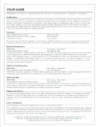 Nanny Experience On Resume This Is For Sample
