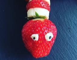 erdbeeren bananen schlange