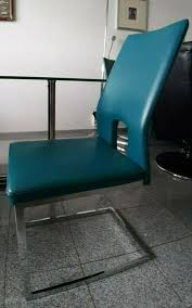 stühle esszimmer 4x petrol silber modern stuhl