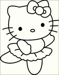 Dancing Hello Kitty Coloring Pictures