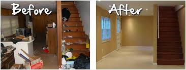 before and after unfinished basement ideas home round