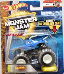 100 Hot Wheels Monster Jam Trucks List HOT WHEELS 2017 MONSTER JAM W RECRUSHABLE CAR JURASSIC ATTACK MUD